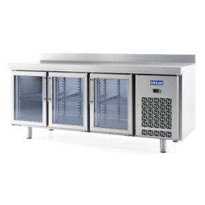 Mesas refrigeradas con puerta de cristal GN 1/1
