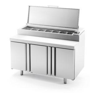 Mesa y bandeja superior refrigeradas para ensaladas y pizza Series MEV 800